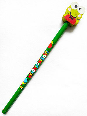 NEW VINTAGE 1988, 1992 SANRIO KERO KEROPPI Collectible Eraser Top Pencil RARE!!!