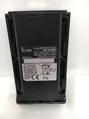 Globe Roamer Genuine New Icom BP-232WP IP67 Waterproof 2250mAh Li-Ion Battery