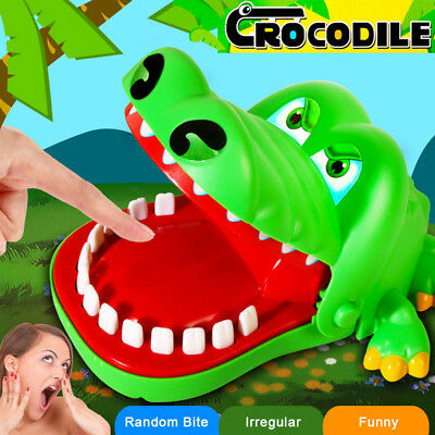 For Kids Adult Crocodile BIG Mouth Dentist Bite Finger Game Prank Funny Toy Gift