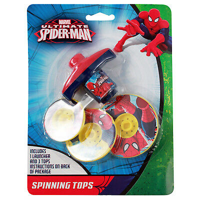Marvel Spider-man Stacking and Spinning Tops Party Favor Toy