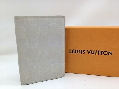 Auth Louis Vuitton Damier Unfini Organizer de Poche Card Case Gray 7i220560#