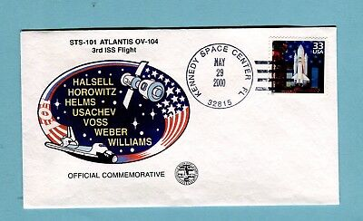 USA Space shuttle, STS-101, Atlantis Posted KSC, 2000 with space shuttle stamp (