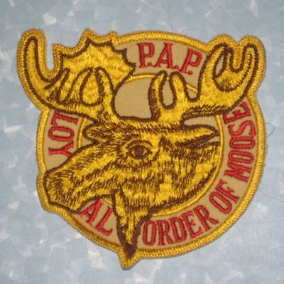 """P.A.P. Loyal Order of Moose Patch - vintage - 5 3/8"""" x 5 1/2""""  - large size"""