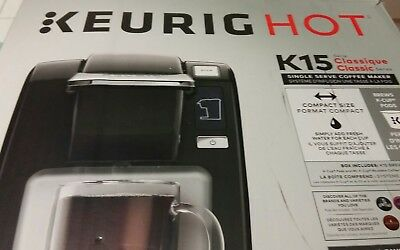 Keurig K15 Single Serve Coffee Maker,Black