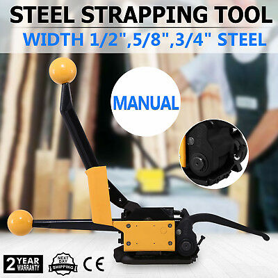 A333 Manual Steel Strapping Tool No buckle Adjustable Packaging Anti-skid 3/4""