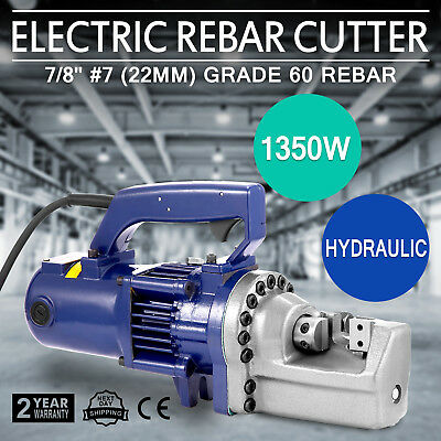 VEVOR Rebar Cutter Steel 22mm Hydraulic Electric Reo Concrete Construction