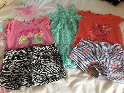 Girls Size 7 Shorts, Dress And Tops