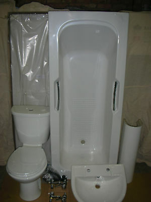 white trade suite 4pc inc cp taps and waste @ MK22DD