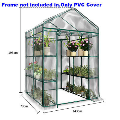 Garden Greenhouse Walk-In Green Hot Plant House Shed Storage PVC Cover