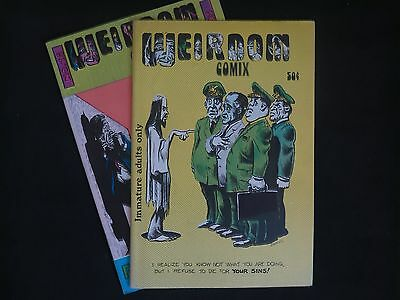 Weirdom #13, #14 (w/poster) lot. Rare '70s comix. Tight copies, 'off the stand'.