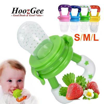Baby Dummy Pacifier Fresh Fruit Food Feeder Nibble Weaning Teething Soother Teat