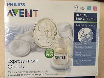 Bpa  Free philips avent manual breast pump New Sealed Box Set