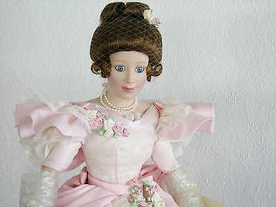 """Lenox Porcelain 23"""" Doll """"EVENING AT THE GALA"""" Doll w/ Gown and Fan NIB"""