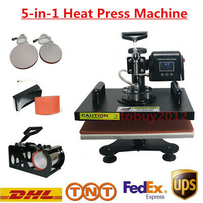 5 in 1 Heat Press Transfer Machine For T-shirt/Mug/Cap/Plate Digital Sublimation