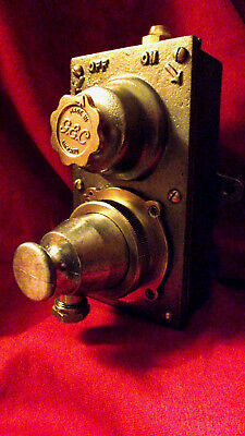 """Vintage Industrial Light Switch with Socket and Plug """"G.E.C."""" RARE ITEM"""