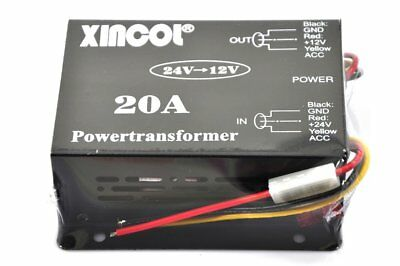 XINCOL 20A 240W Truck Car Power Supply DC 24V to 12V Buck Converter Voltage Redu