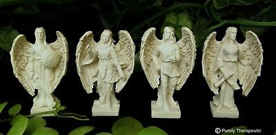 SET OF 4 ARCHANGEL FIGURINES~Guardian Statue Sculpture Angel Michael Raphael