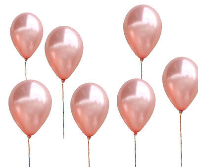 Rose Gold Latex Balloons x 8 High quality Qualatex