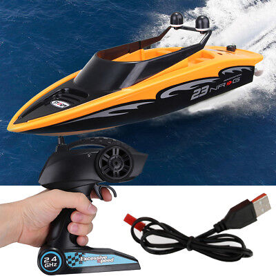 High-Speed 2.4Ghz 4 Channel Charging Wireless RC Racing Boat Waterproof Outdoor