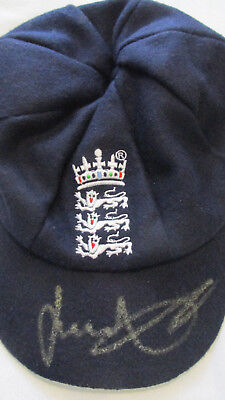 Signed James Jimmy Anderson England Baggy Cap with Exact Proof & COA