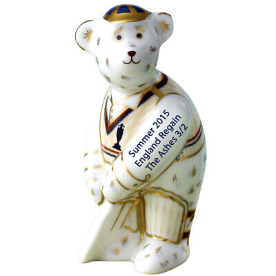 Royal Crown Derby Ashes Cricketer Miniature Bear 2015 NEW Boxed 1st Quality