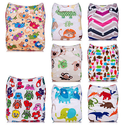 BAMBOO Washable Baby Pocket Nappy Cloth Reusable Diaper Diapers Cover Wrap