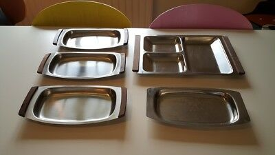 Stainless steel Danish serving trays by Stelton Mid Century