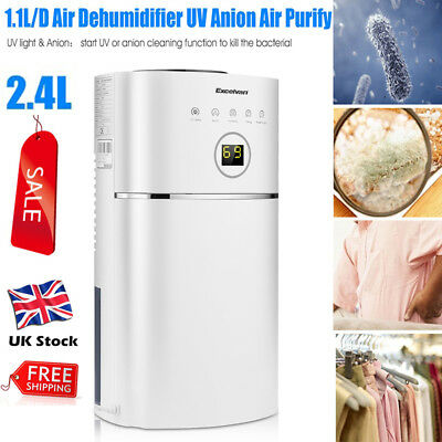 2.4L Air Dehumidifier Purify Portable Damp Moisture Dryer Home Bathroom Kitchen