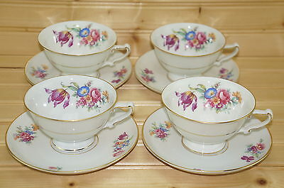 "Heinrich Christine 46362 Set of (4) Cups, 2 3/8"" & (4) Saucers, 5 7/8"""