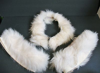 Vintage Fur Collar and Cuffs from Ann Taylor Coat ESTATE FIND Silver Fox