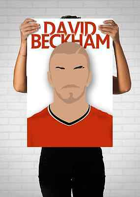 David Beckahm Manchester United Vector Poster