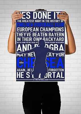 Didier Drogba Chelsea Champions League Commentary Quote Poster