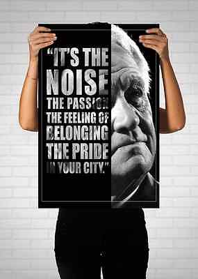 Sir Bobby Robson Newcastle United Typo Quote Poster