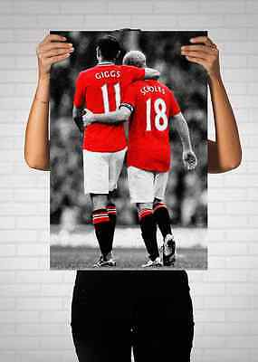 Giggs & Scholes Manchester United Legends Poster