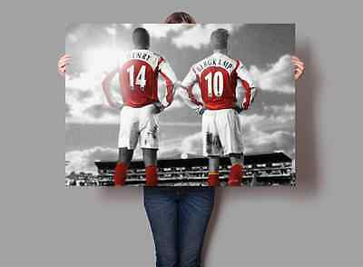 Bergkamp & Henry Arsenal FC Legends Poster