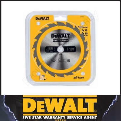 DeWalt DT1933 DT1166 Construction Circular TCT Saw Blade 165mm x 20mm 18T AC