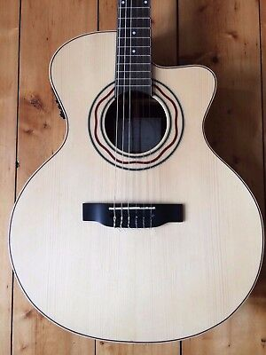Elegant £1200 Luthier APC Nylon String Classical Electric Acoustic Guitar
