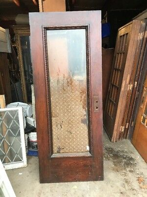 Cm 215 Antique Oak Park Ave. Full View Entrance Door 315/8 X 79.25