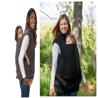 Women's Maternity Baby Carrier Hoodie Warm Sweats Baby And Mom