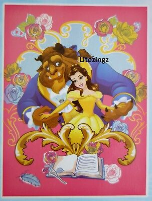 Authentic Disney Beauty and the Beast Belle Large Super Soft Throw Blanket