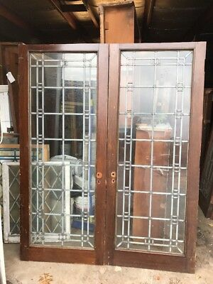 Cm 217 Available Price Each Antique Zinc And Glass Passage Door Pocket 32 X 79