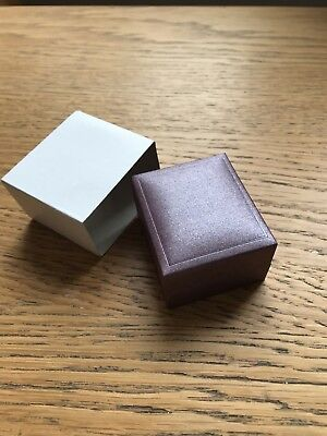 24 Quality Ring Boxes- Metallic Plum ring size boxes with cream cushion