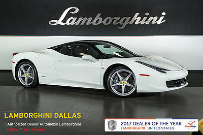 2015 Ferrari 458 Base Coupe 2-Door CARBON CERAMIC BRAKES+CARBON FIBER STEERING WHEEL+CARBON FIBER SPORT SEATS