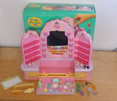 1990 Polly pocket Pyjama Party Dressing table  99%  complete boxed