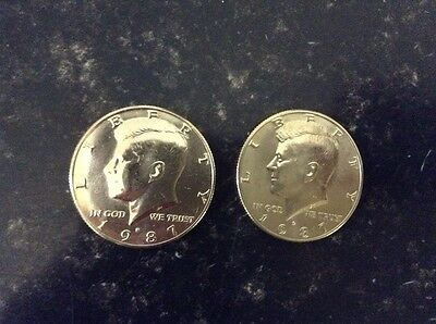 1987 P & D Kennedy Half Dollars Low Mintage