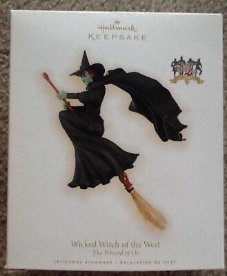 2009 Hallmark Keepsake Ornament WICKED WITCH OF THE WEST, THE WIZARD OF OZ,Broom
