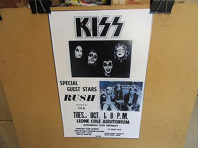 Kiss Jackson State University Concert Promo Poster Featuring Rush