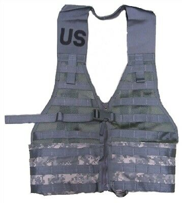 Tactical Fighting Load Carrier Vest FLC MOLLE II ACU LBV Army Used