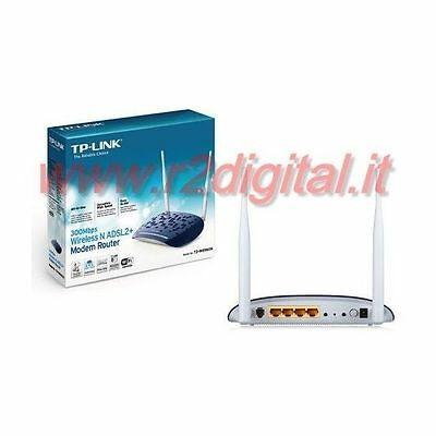 ROUTER TP-LINK TD-W8961ND WIRELESS N MODEM 300Mbps LAN ADSL WIFI NETWORK HOME PC
