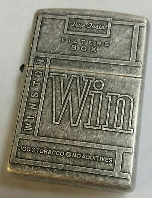 Zippo Winston Limited Edition 1998 Antique Matte 2 Sided Top and Side Art Work